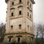 Stav věže před opravou a postup oprav