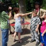 TV OIK natáčí rozhovor s Bleskovým Jackem a dětmi