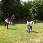 8 Bleskový Jack, jeden z patronů chytal děti do lasa, moc se jim to líbilo.