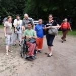 návštěvníci z Diakonie Letovice s nejkrásnějším knoflíkem-perníkovým