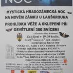 leták Mystická Hradozámecká noc 30.8.2014