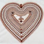f.Z.Ledlová-rekordní drátované srdce 51 x 55 cm