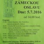Leták Zámecká oslava 5.7.169