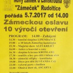 program Zámecké oslavy 5.7.17