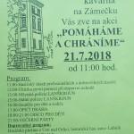 Na Zámeček za poučením i zábavou 21.7.od 11.00